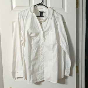 White bottom up shirt
